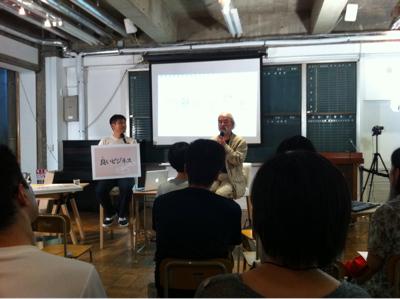 藤村靖之さんの非電化の講演に来てる