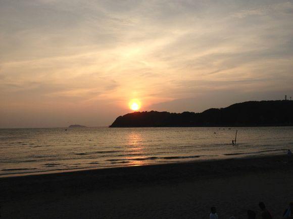 逗子海岸の夕日